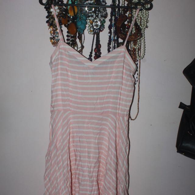 Midi Pink Stripes Dress