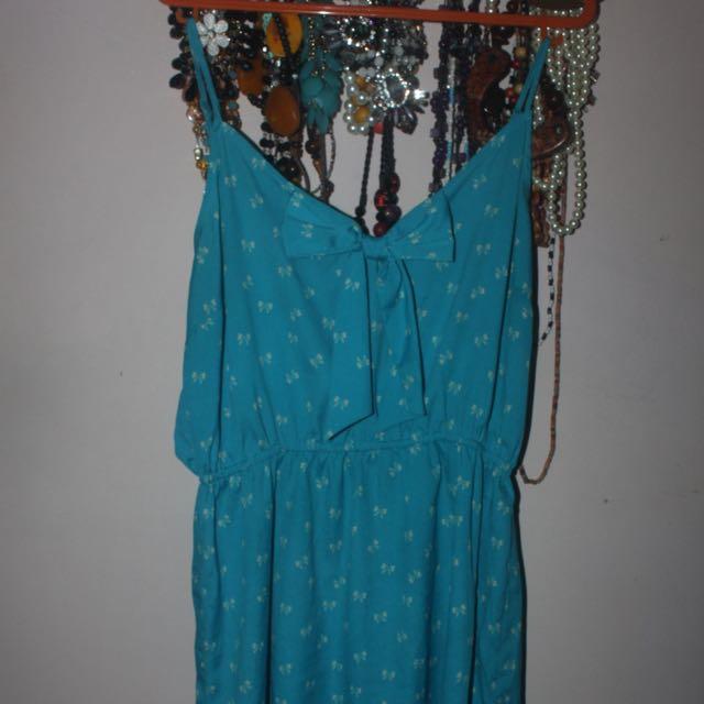 Mini Blue Beach Dress