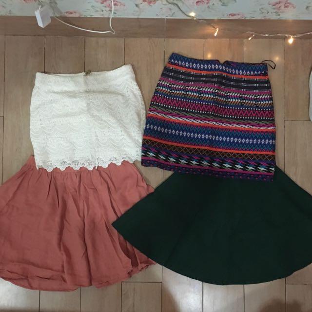 Mini Skirt Topshop, Promod, F21, Primark