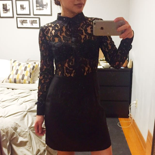 MissGuided Laced Little Black Dress