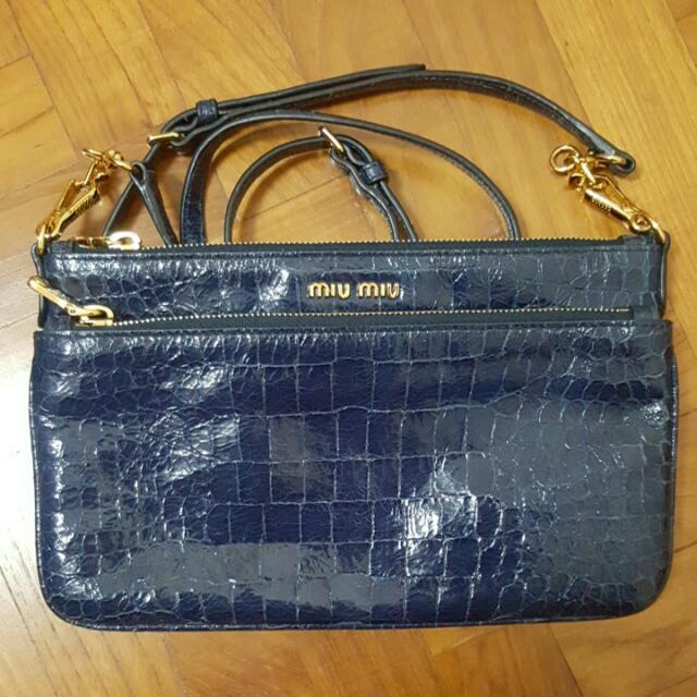 29470ad8a26c Miu Miu Piccole Brose Sling Bag   Clutch