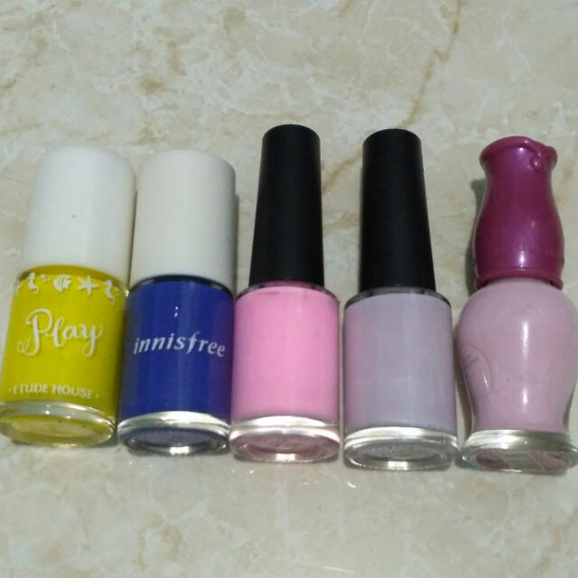 Nail Polish Etude House, Innisfree, Tony Moly