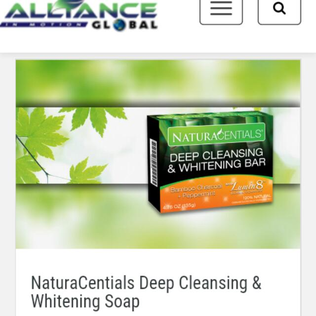 NaturaCentials Deep Cleansing & Whitening Soap