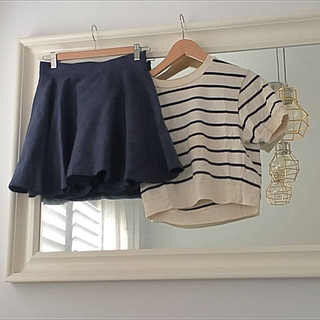 Nautical Skirt & Crop