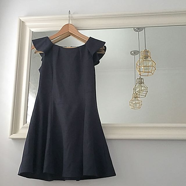 Navy A-line Mini Dress