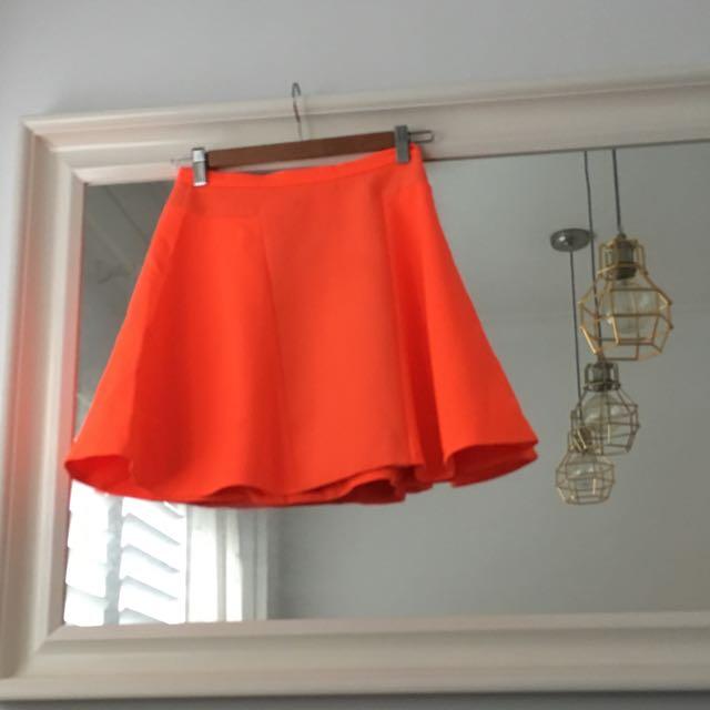 Neon A-line Skirt