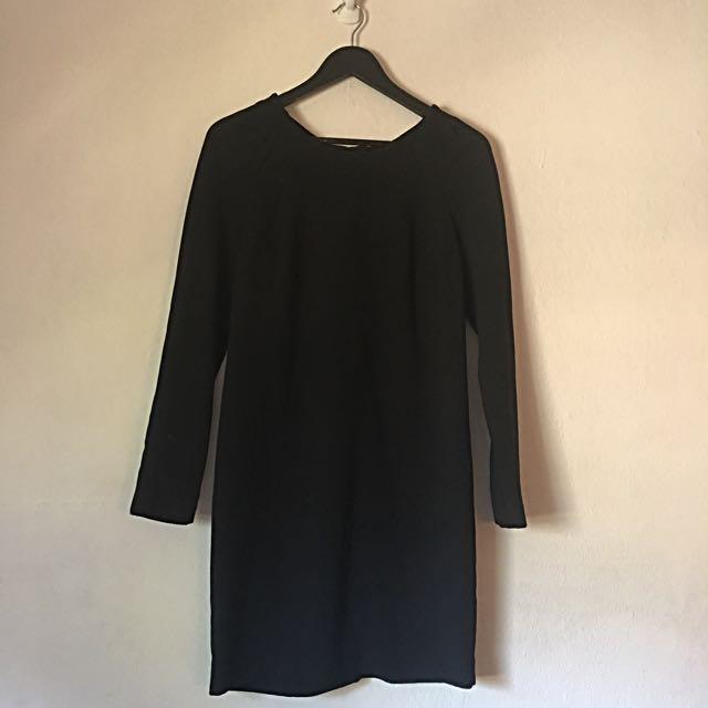 Next Black Long Sleeve Mini Dress UK 10