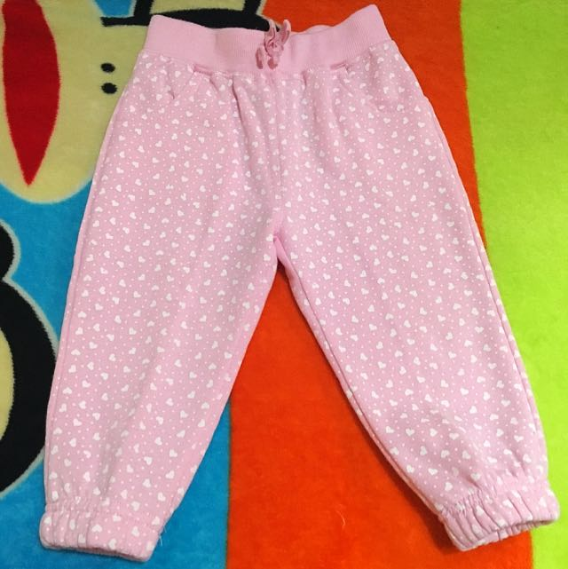 Pink Hearts Pants w 2 Front Pockets
