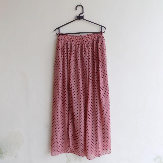 Pink Polka Skirt