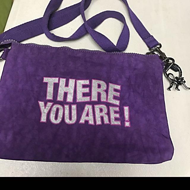 Preloved almost new Kipling purple crossbody bag