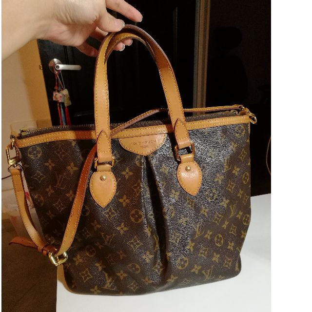 12de86ab712 Pre-loved Authentic Louis Vuitton Monogram Canvas Palermo PM Bag (No ...