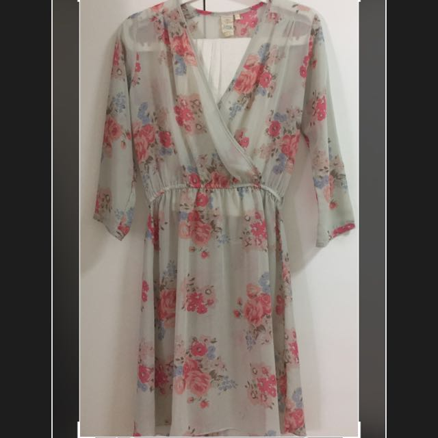 SHAPE Floral Mid dress With Inner
