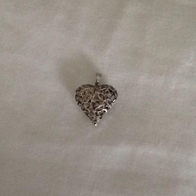 Silver Filigree Heart