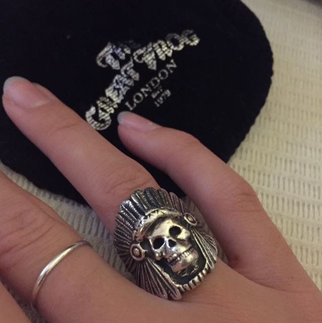 Solid Silver Chief Ring