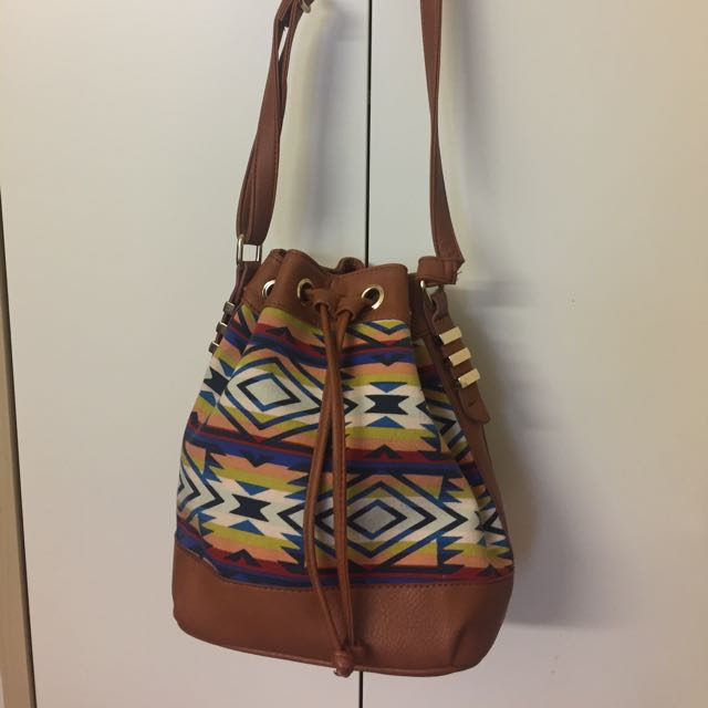 Sportsgirl Aztec Medium Sized Bucket Bag