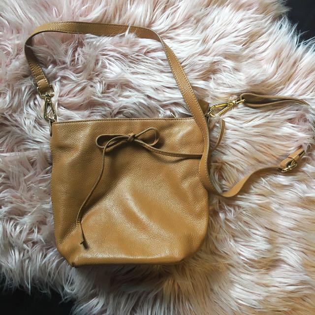 Sterling & Hyde Tan Leather Cross Body Bag