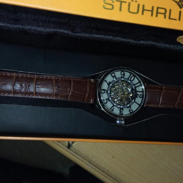 Stuhrling Mens Watch Skeleton ( Authentic)
