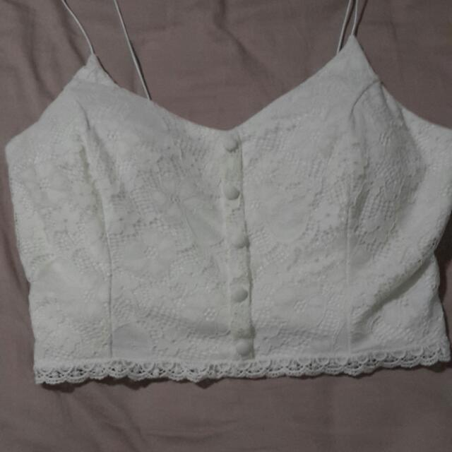 TEMT Lace Crop Size Small
