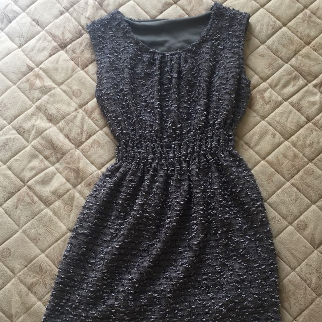 Textured Grey Dress