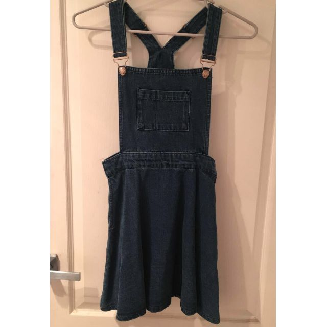 TOPSHOP Denim Pinafore Dress