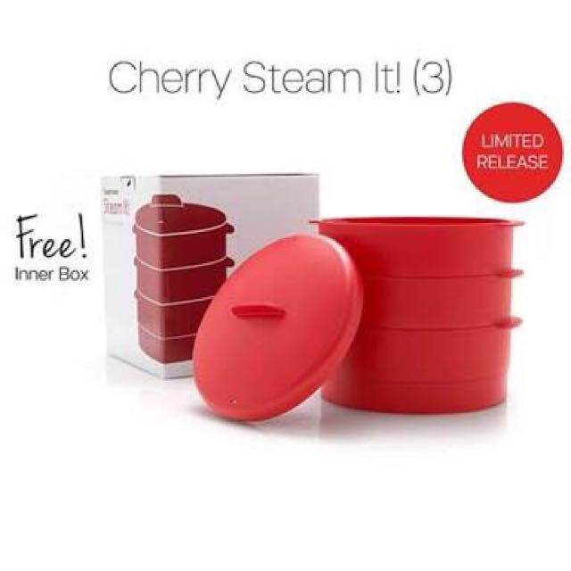 Tupperware Cerry Steam It Tiga Susun