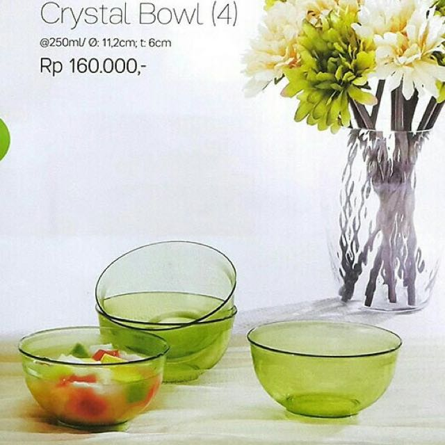 Tupperware Crsytal Bowl Isi 4