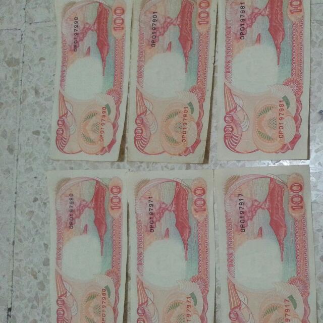 Uang Kertas 100 Rupiah Tahun 1992 Edisi Perahu Pinisi..