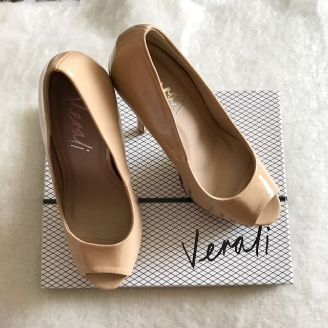 Verali High Heels Nude Peeptoe Shoes