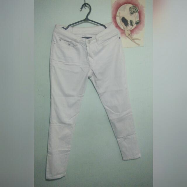 White cotton skinny jeans (size 26)