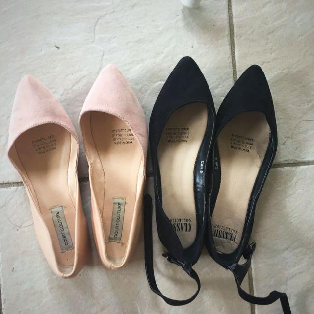 Women Flats X2 Size 5