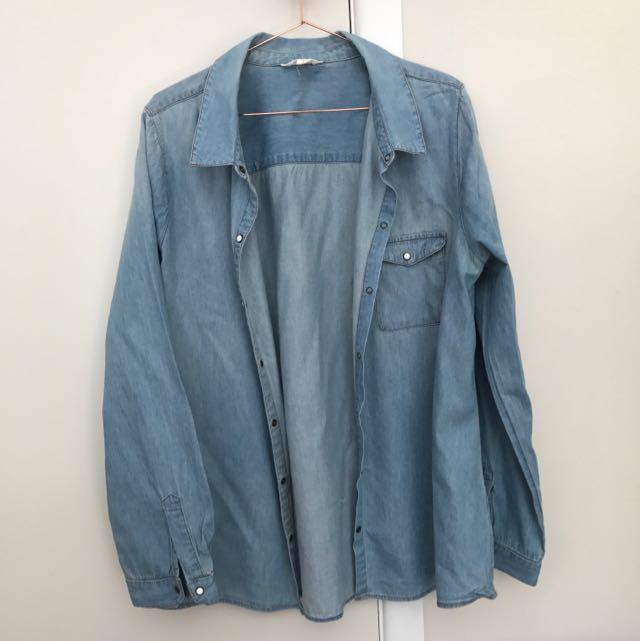 Women's Denim (like) Jacket Size L