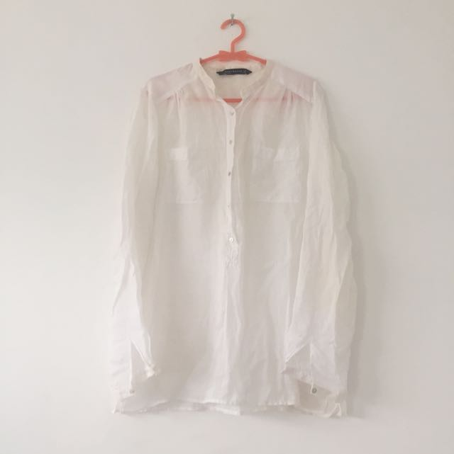 Zara White Shirt