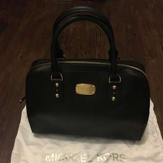 Michael Kors Black Tote Hand Bag With Strap