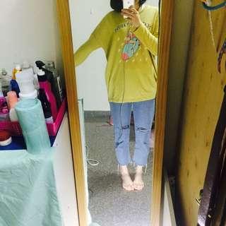小精靈芥末黃長袖T