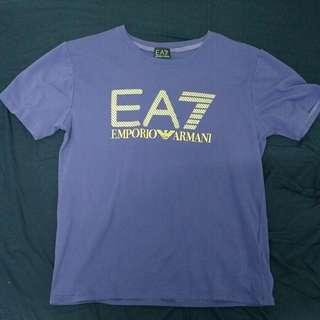 EA7 紫T Size L
