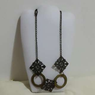 Kalung Wanita Etnik - Gold Bronze Necklace