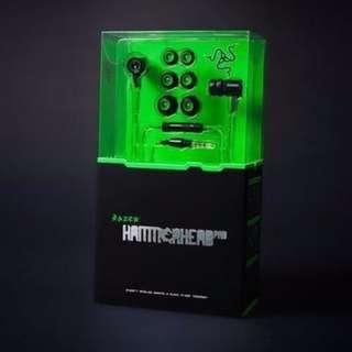 雷蛇 Razer Hammerhead Pro 戰錘狂鯊專業版 耳塞式耳機 電競 有MIC