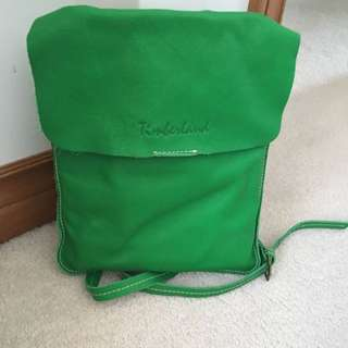 Timberland Cross Body Leather Green Bag