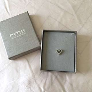 Peoples Diamond Heart Pendant