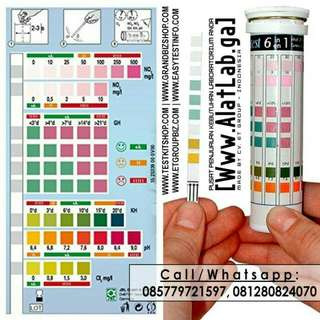 Tes Kit Mutu Air 6 in 1 Parameter (pH KH GH NO3 NO2 Cl2) eSHa Quick Test