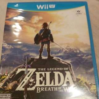 Brand New! Legend Of Zelda: Breath Of The Wild For Wii U