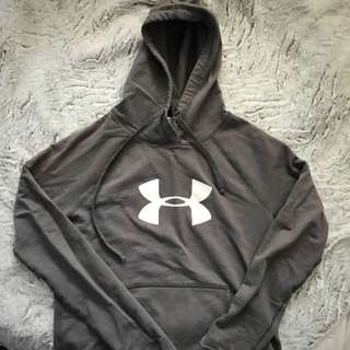 Grey UnderArmour Hoodie - Size Small