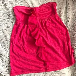 Abercrombie and Fitch Strapless Ruffle Too (size XS)