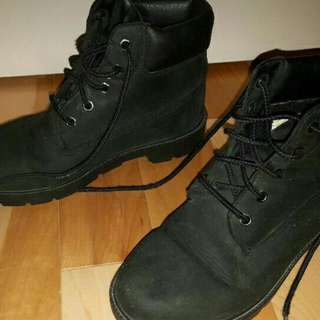 Black Leather Waterproof Timberland Boots