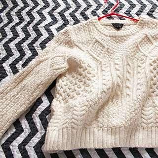 TOPSHOP Beige Knit Sweater