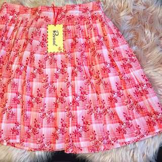 Revival Patty Skirt Red Print S16 BNWT