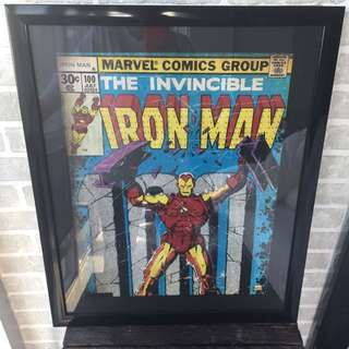 Iron Man Comic Book Framed Art