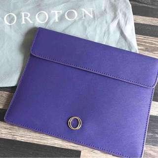 Oroton Cobalt Blue Large Pouch
