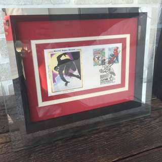Collectors Edition Spider-Man Comic Book Framed Stamp Art