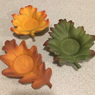 Partylite leaves tea light holders